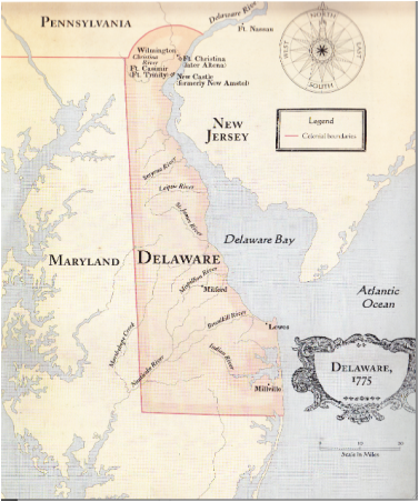 geography - Colonial DelawareBlack And White Delaware Colony Map